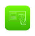 cardiograph icon green vector image