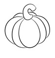 cartoon pumpkin isolated on white background vector image