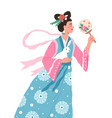 chang e asian moon goddess mid-autumn festival vector image