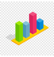 chart in columns isometric icon vector image vector image