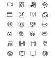 Cinema Line Icons 2 vector image