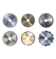 circular saw blades isolated metal toothed disks vector image