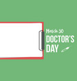 collection stock card doctor day style vector image vector image