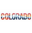 colorado with rocky mountains and red rocks vector image