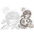 contour image dragon zodiac animal sign vector image vector image