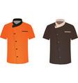 cook uniforms vector image vector image