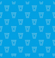 cup of coffee pattern seamless blue vector image vector image