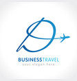 d business travel company logo concept vector image