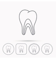 Dentinal tubules icon Tooth medicine sign vector image