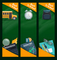 education and school supplies blackboard banners vector image vector image