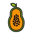 fesh fruit papaya isolated icon design vector image