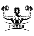 Fitness Club Emblem vector image vector image
