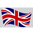 Flag of the United Kingdom waving vector image