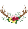 floral antlers vector image vector image