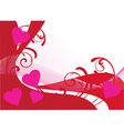 floral card hearts vector image
