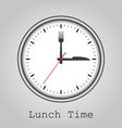 for lunch instead of arrows fork and knife vector image vector image