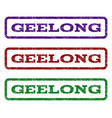geelong watermark stamp vector image