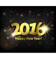 greeting card 2016 Happy New Year vector image vector image