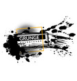 grunge ink background black inked splatter dirt vector image