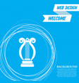 harp icon on a blue background with abstract vector image vector image