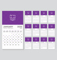 hijri and gregorian calendar year 2020 islamic vector image