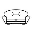 home sofa icon outline style vector image vector image