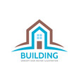 house home building - logo concept vector image vector image