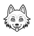 husky dog head cartoon vector image vector image