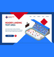 ice hockey arena competition concept landing web vector image vector image