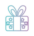 line present gift ribbon bow design vector image