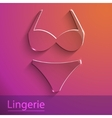 Lingerie sign glass icon vector image vector image
