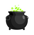 magic witch cauldron magical boiler isolated on vector image
