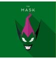 Mask villain Hero superhero skull flat style icon vector image vector image