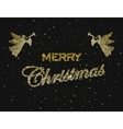 Merry christmas happy new year holiday vector image vector image