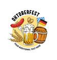 oktoberfest hand drawn munich beer festival vector image