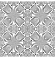 optical art abstract cross seamless deco pattern vector image