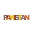 pakistan phrase overlap color no transparency vector image vector image