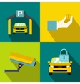 Parking banners set flat style vector image vector image
