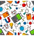 Physics science seamless pattern background vector image vector image