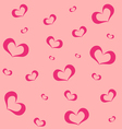 Pink background with hearts vector image vector image