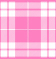 pink girlie tartan plaid seamless pattern vector image