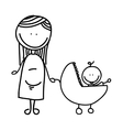 pregnancy mother character isolated icon vector image vector image
