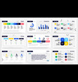 presentation slides infographic pages analytical vector image