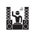 professional dj black concept icon vector image vector image