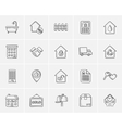 Real estate sketch icon set vector image vector image