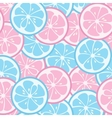 Seamless pattern with pink and blue citrus vector image vector image