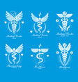 set caduceus logotypes can be used in vector image vector image