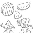 set of watermelon vector image vector image