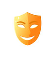 smiling mask happy face with smile theater icon vector image