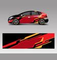 sport car racing wrap design design template